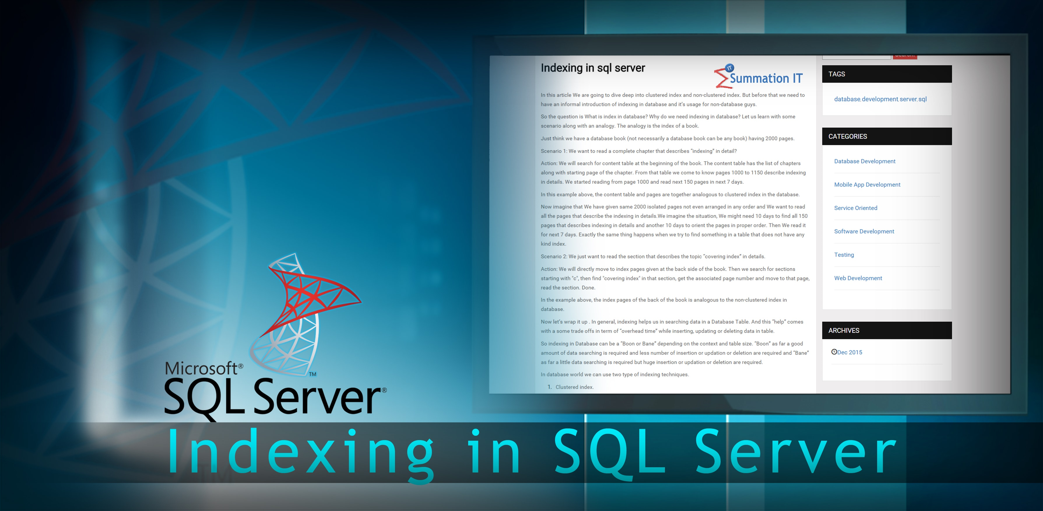 Indexing in SQL Server